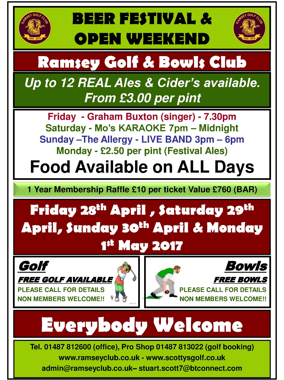 Beer Festival & Open Weekend - Ramsey