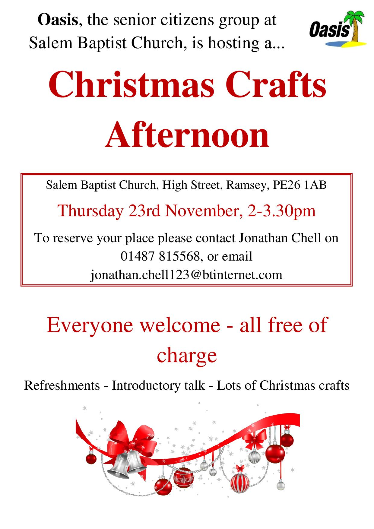 Church Craft Fair Bedfordshire November