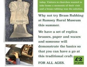 Brass Rubbing at Ramsey Rural Museum