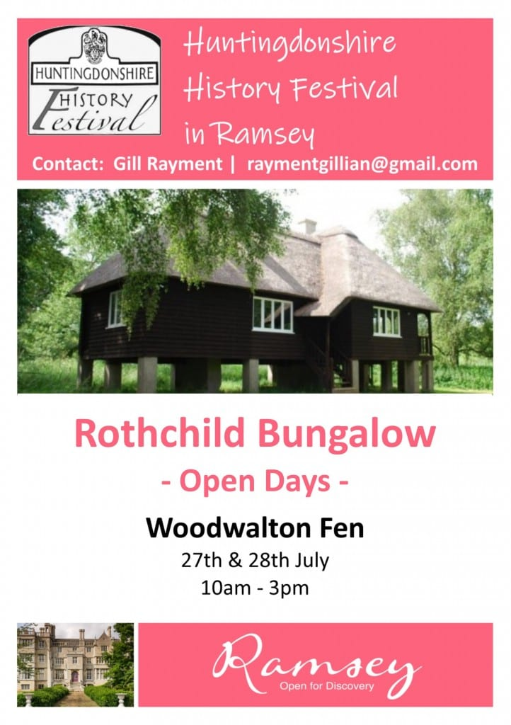 Huntingdonshire History Festival in Ramsey - Rothschild Bungalow