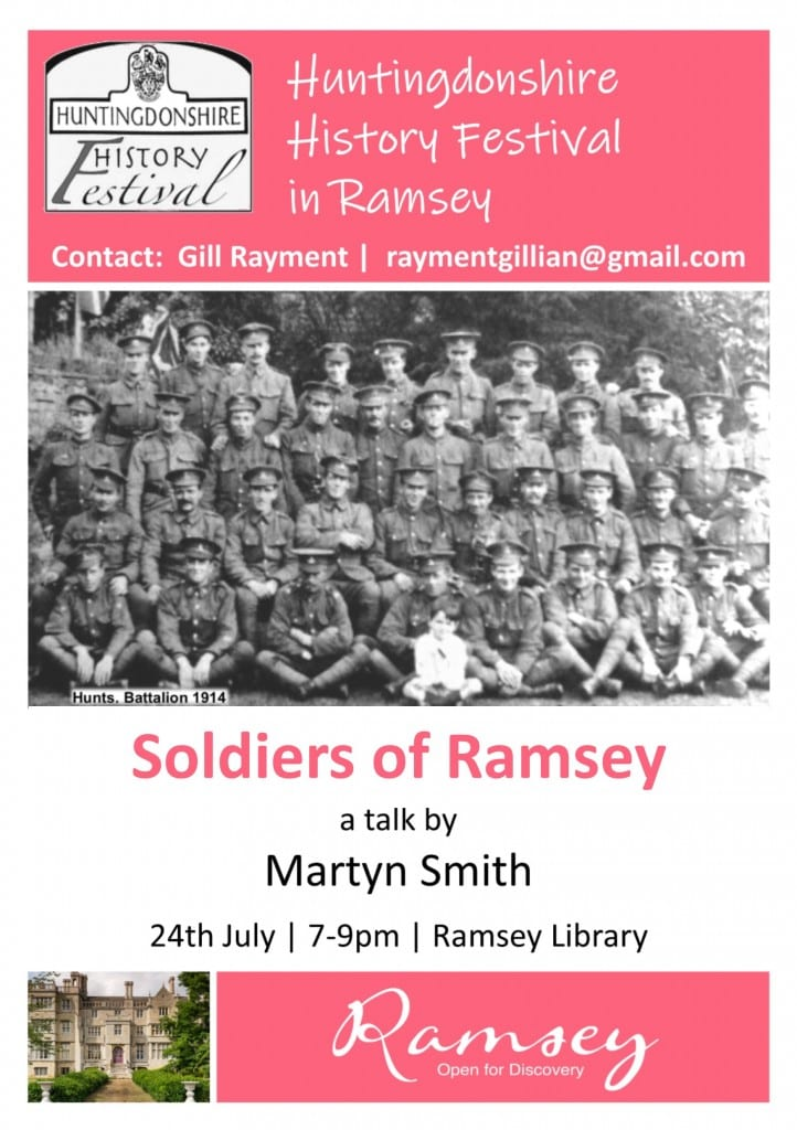 Huntingdonshire History Festival in Ramsey - Soldiers of Ramsey