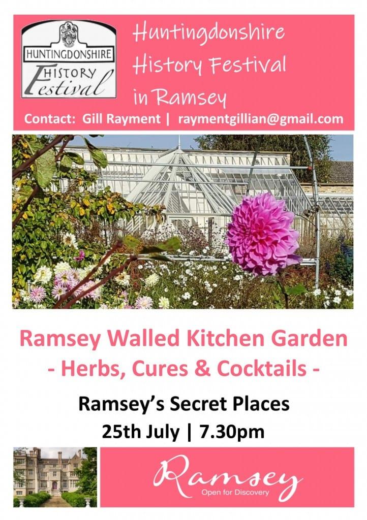Huntingdonshire History Festival in Ramsey - Ramsey Abbey Walled Kitchen Garden