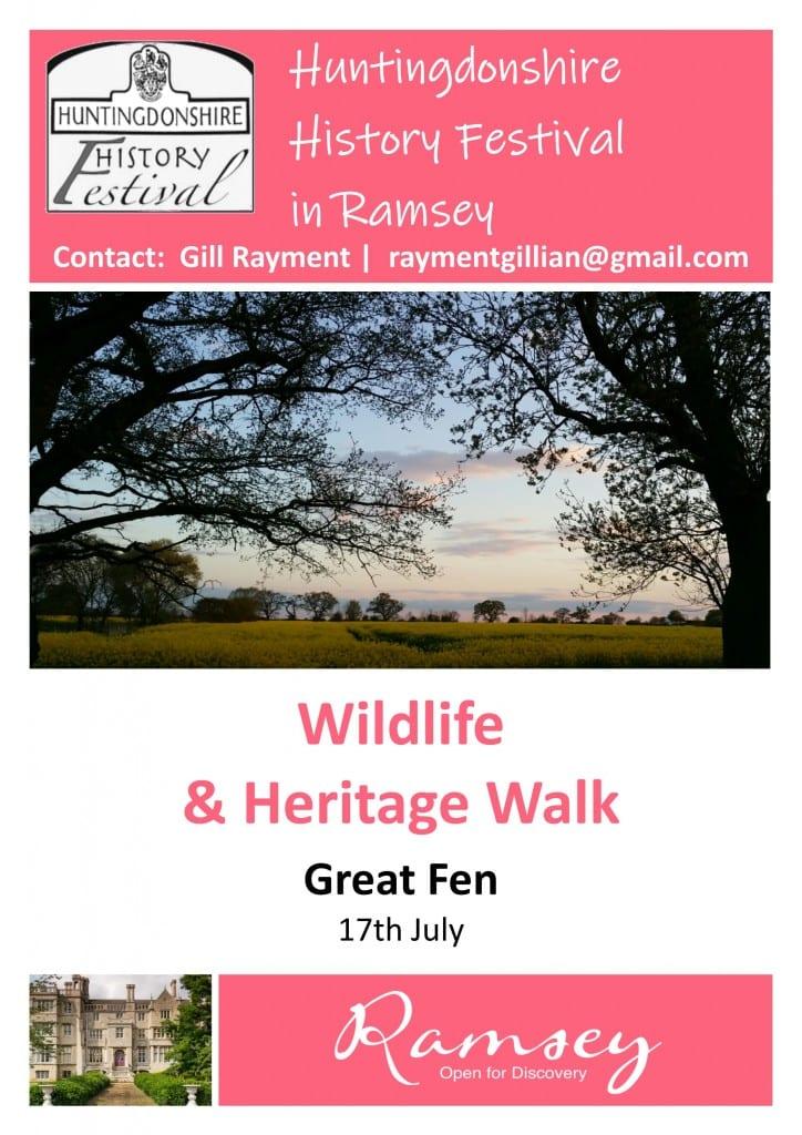 Huntingdonshire History Festival in Ramsey - Wildlife & Heritage Walk